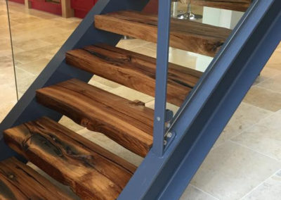 Stair treads with lacquer finish