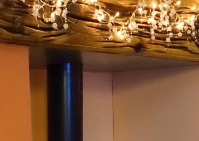 Sleeper oak beam with oil finsh