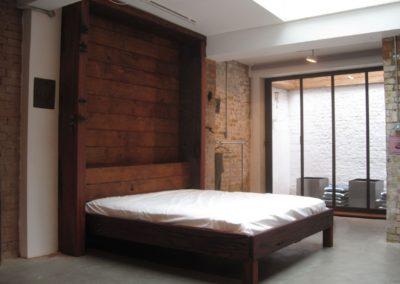 Flip up Bed in Jarrah