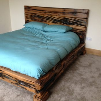 bed made from railway sleepers