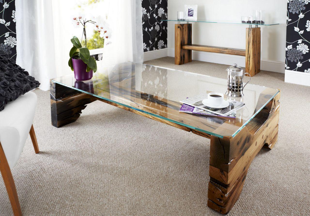 Glassic Hourglass Coffee Table