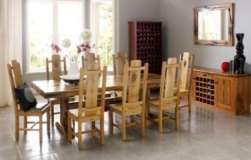 Norseman Dining Table From Reclaimed Railway Sleepers