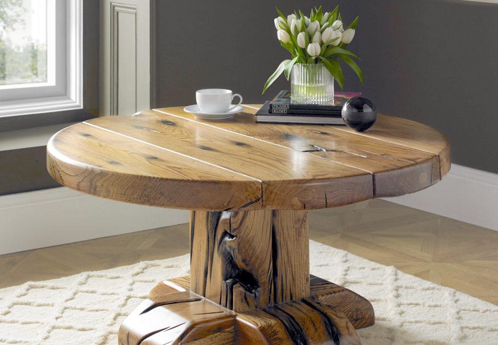 Rotunda Coffee Table in reclaimed French oak
