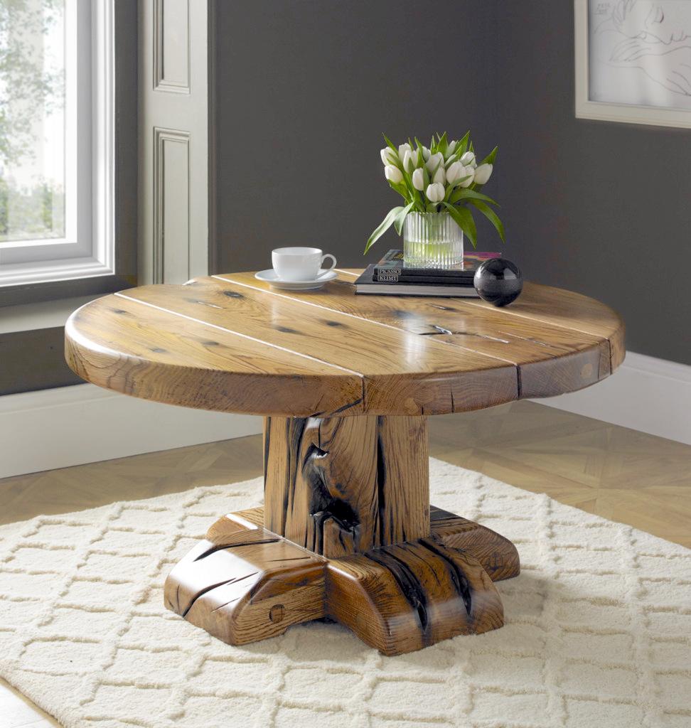 Rotunda Coffee Table on centre pedestal