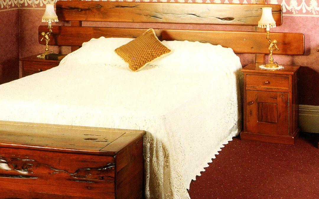 Up-Cycled Railway Sleeper Pedestal Bed Headboard