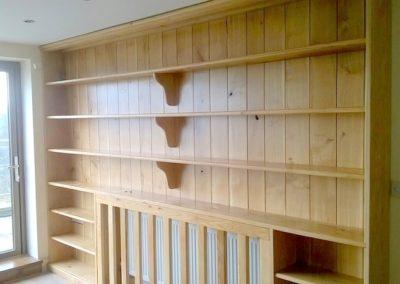 6' long Oak book case
