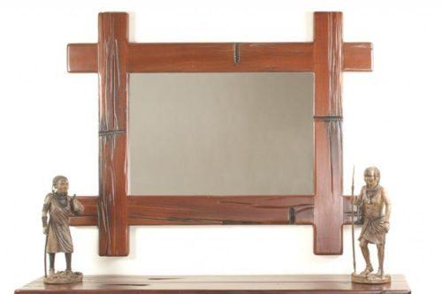 Railway Sleeper Criss-Cross Mirror