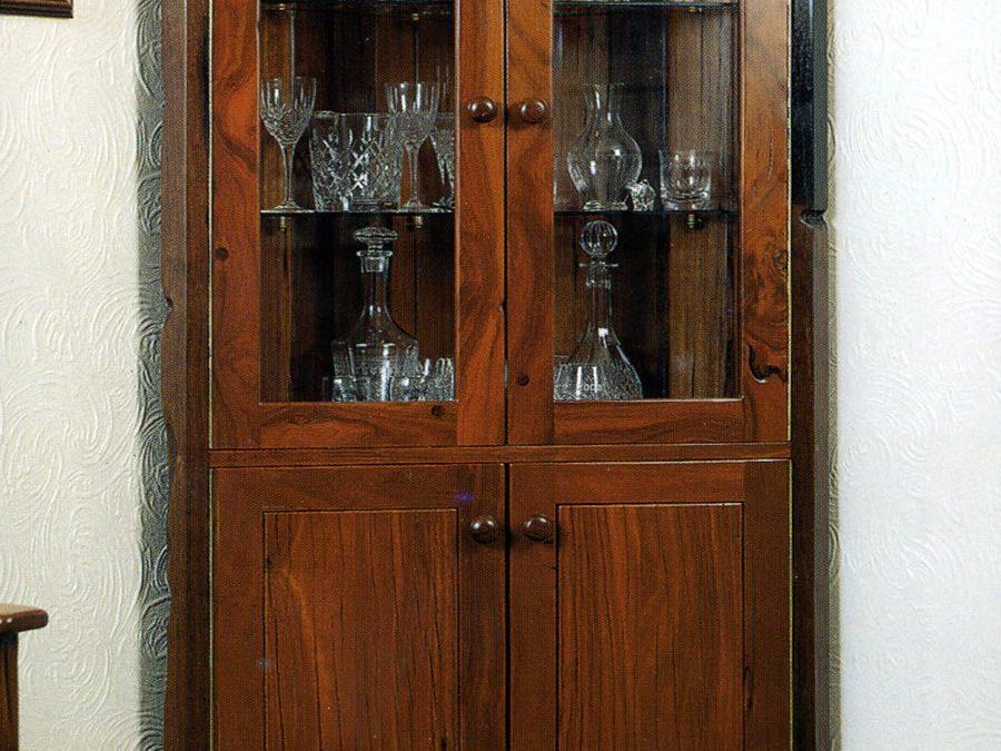 Corner Bookcase in Reclaimed Timber