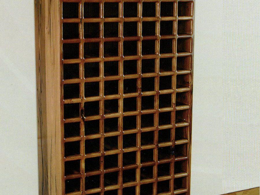 Reclaimed Timber Wine Rack