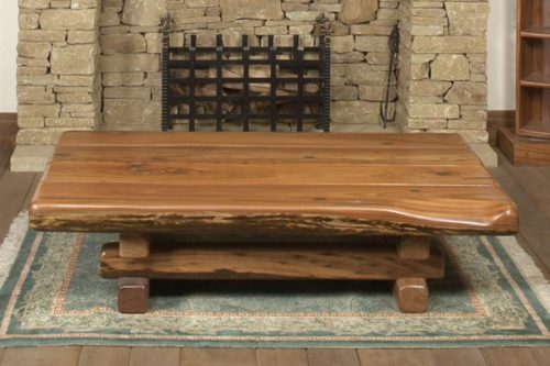Solid Top Hagar Coffee Table From Recycled Timber
