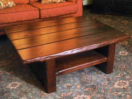 Backbreaker Coffee Table from reclaimed railway sleeper timber