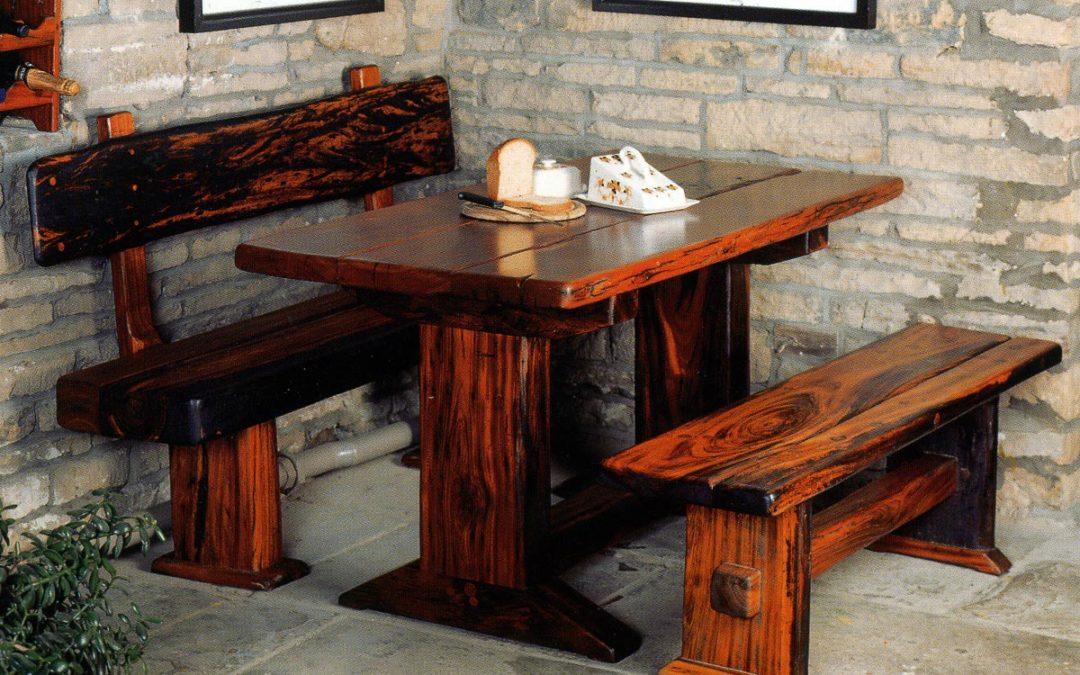 Railway Sleeper Plank-top Table