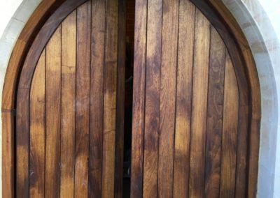 Arched external door & frame