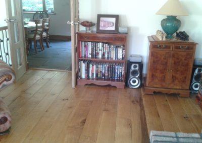 Oak flooring with hardwax oil