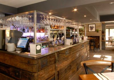 Bar cladding from reclaimed sleepers