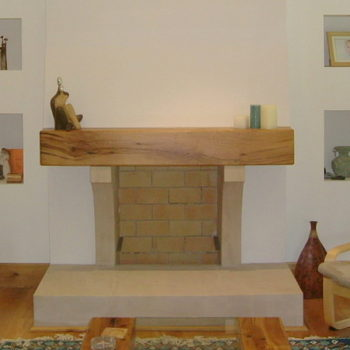 raiolway sleeper oak mantel beam