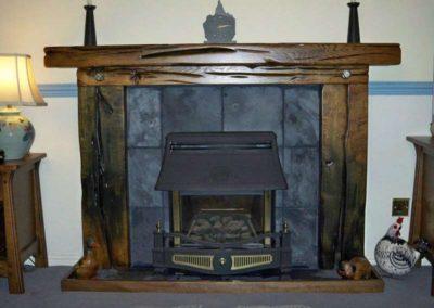 Dark oak Skelton Fire Surround