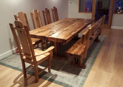 Norseman dining suite in oak sleeper