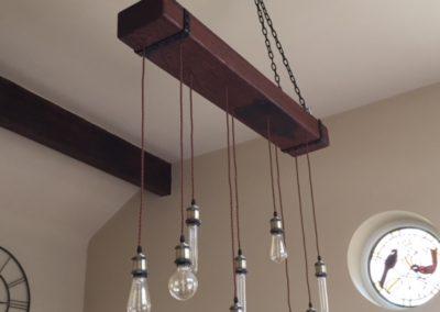 Hanging oak beam