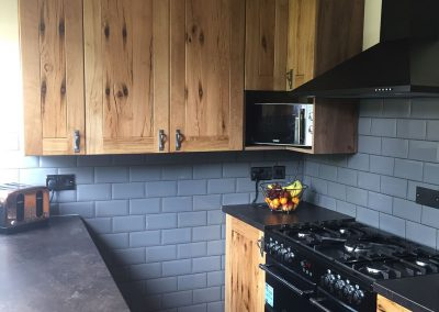 Kitchen units in French oak